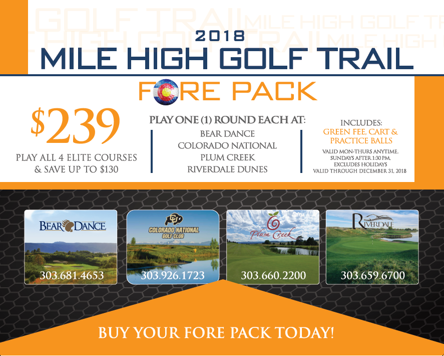 2018 Mile High Golf Trail 4 Pack